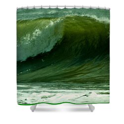 High Surf Shower Curtain by John Wartman