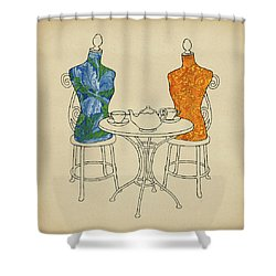 High Tea Shower Curtain by Meg Shearer