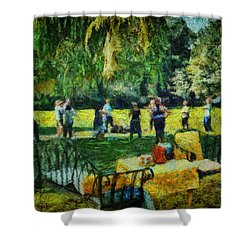 High Tea Tai Chi Shower Curtain