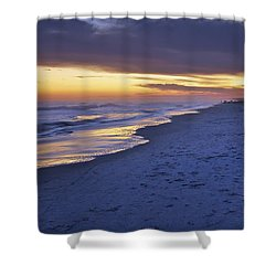 High Tide In Fading Light Shower Curtain by Phill Doherty
