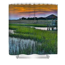 High Tide On The Creek - Mt. Pleasant Sc Shower Curtain