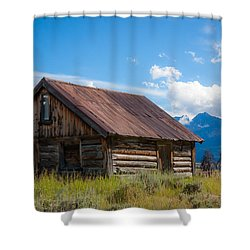High Valley Cabin Shower Curtain