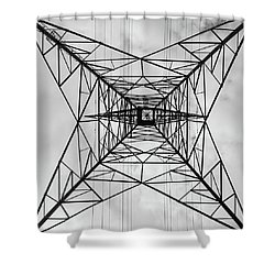 High Voltage Power Shower Curtain