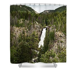 Shower Curtain featuring the photograph High Water At Fish Creek Falls by Daniel Hebard