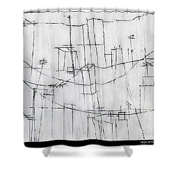 High Wires Shower Curtain by Pamela Canzano