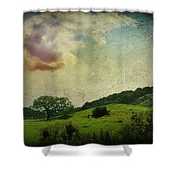 Higher Love Shower Curtain by Laurie Search
