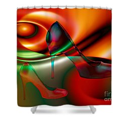 Highheels Red And Green Shower Curtain