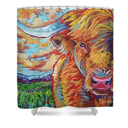 Shower Curtain featuring the painting Highland Breeze by Jenn Cunningham