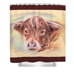 Highland Cow Pastel Shower Curtain