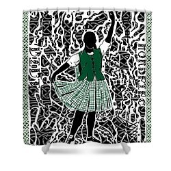 Shower Curtain featuring the digital art Highland Dancing by Darren Cannell