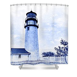 Highland Lighthouse Cape Cod Blue Shower Curtain