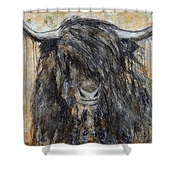 Shower Curtain featuring the painting Highlander by Jennifer Godshalk