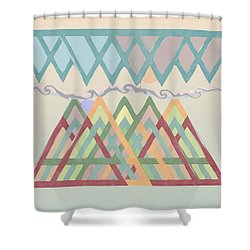 Shower Curtain featuring the digital art Highlands Anvil by Deborah Smith
