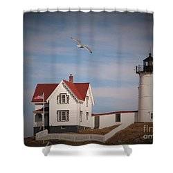 Highlighting The Nubble Light Shower Curtain