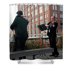 Shower Curtain featuring the photograph Highline Serenade by Madeline Ellis