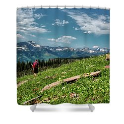 Highline Trail Adventure Shower Curtain