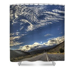 Highway 157 Shower Curtain