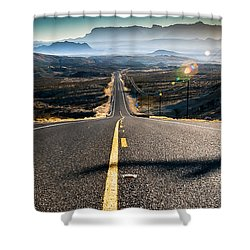 Shower Curtain featuring the photograph Highway 170 To Big Bend by Allen Biedrzycki