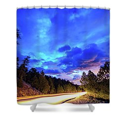 Highway 7 To Heaven Shower Curtain by James BO Insogna
