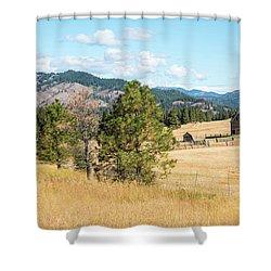 Highway 97 Ranch Memories Shower Curtain