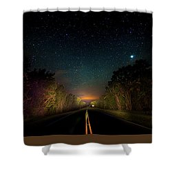 Highway To The Stars Shower Curtain by Mark Andrew Thomas