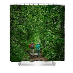 Hiking - Appalachian Trail Shower Curtain