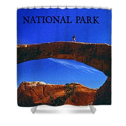 Hiking Arches Shower Curtain by David Lee Thompson