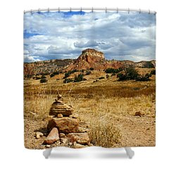 Shower Curtain featuring the photograph Hiking Ghost Ranch New Mexico by Kurt Van Wagner