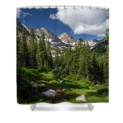 Hiking Into The Gore Range Mountains Shower Curtain