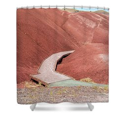 Hiking Loop Boardwalk At Painted Hills Cove Shower Curtain