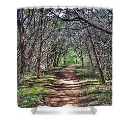 Hiking Meridian State Park  Shower Curtain