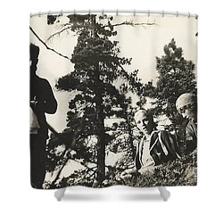 Shower Curtain featuring the photograph Hiking by Michael Krek