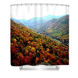 Hiking Through The Mountains Shower Curtain