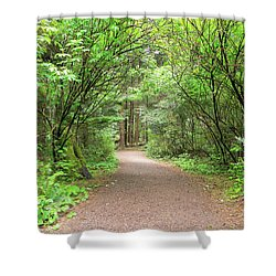 Hiking Trail Along Lewis And Clark River Shower Curtain