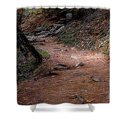 Hiking Trail To Abrams Falls Shower Curtain by DigiArt Diaries by Vicky B Fuller