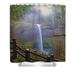 Hiking Trails At Silver Falls State Park Shower Curtain