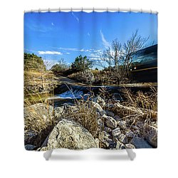 Hill Country Back Road Long Exposure #2 Shower Curtain