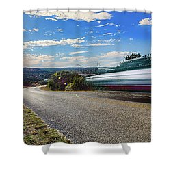 Hill Country Back Road Long Exposure Shower Curtain