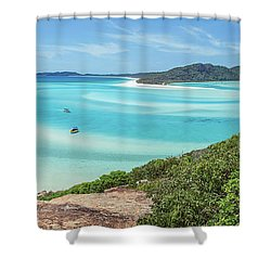 Shower Curtain featuring the photograph Hill Inlet Lookout by Az Jackson