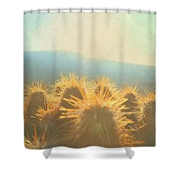 Hill Top Sunset  Shower Curtain
