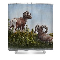 Hill Top View Shower Curtain