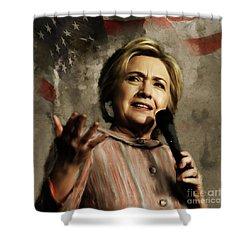 Hillary Clinton 02 Shower Curtain