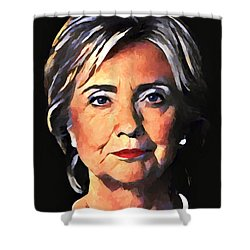 Hillary Clinton Shower Curtain by Dan Sproul