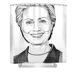 Hillary Clinton Shower Curtain by Murphy Elliott