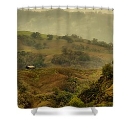 Hills Above Anderson Valley Shower Curtain