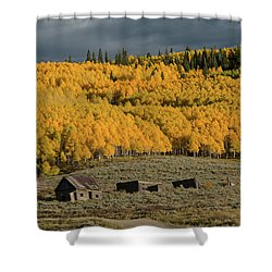 Hills Afire Shower Curtain
