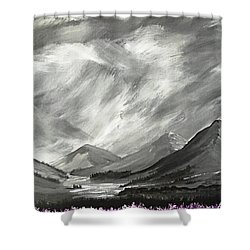 Hills And Heather  Shower Curtain