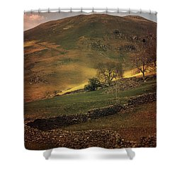 Hills Of Scotland At The Sunset Shower Curtain by Jaroslaw Blaminsky