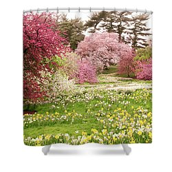 Shower Curtain featuring the photograph Hillside Bloom by Jessica Jenney
