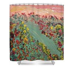 Hillside Flowers Shower Curtain